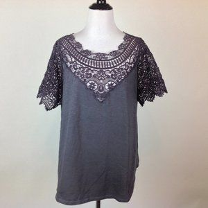 Sundance Peasant Top Womens XL Crochet
